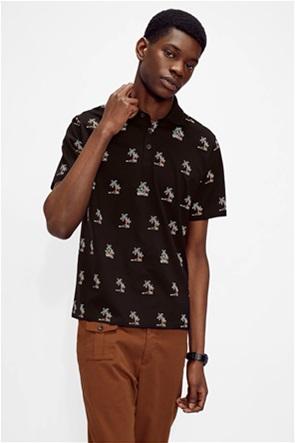 """Ted Baker ανδρική πόλο μπλούζα με κέντημα palm trees """"Kimche"""""""