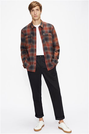 Ted Baker ανδρικό πουκάμισο με καρό σχέδιο και flap τσέπες
