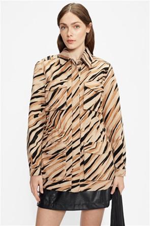 "Ted Baker γυναικείο jacket animal print με flap τσέπες ""HAMIEL"""