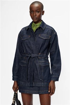 Ted Baker γυναικείο denim jacket με flap τσέπες