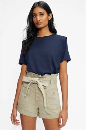 Ted Baker γυναικεία μπλούζα  T-shirt με βάτα στον ώμο