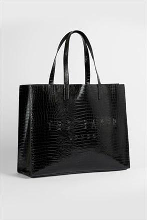Ted Baker γυναικεία τσάντα ώμου με all-over croco print και ανάγλυφο λογότυπο ''Allicon''