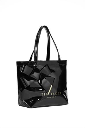Ted Baker γυναικεία τσάντα ώμου με μεταλλιζέ λογότυπο ''Nikicon''