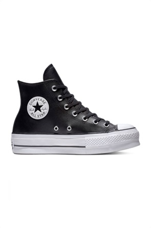 "Converse γυναικεία δερμάτινα chunky sneakers μποτάκι ""Chuck Taylor All Star Lift"""