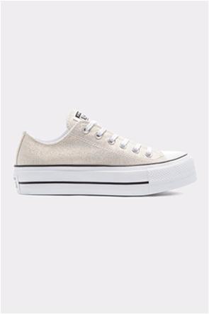 "Converse γυναικεία chunky sneakers μεταλλιζέ ""Chuck Taylor All Star Lift"""