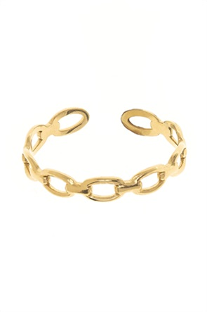 The Fashion Desk γυναικείo δαχτυλίδι με σχέδιο αλυσίδα επιχρυσωμένο