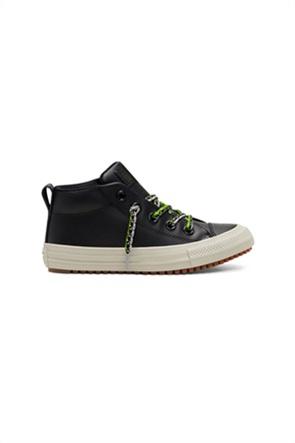 "Converse παιδικά δερμάτινα sneakers μποτάκι με πολύχρωμα κορδόνια ""Chuck Taylor All Star Street Boot"""