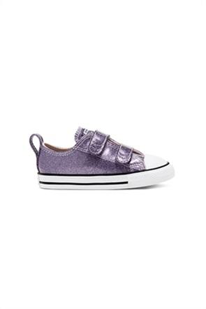 "Converse παιδικά sneakers μεταλλιζέ με Velcro λουράκια ""Chuck Taylor All Star 2V"""