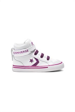 """Converse παιδικά δερμάτινα sneakers μποτάκια με μεταλλιζέ λεπτομέρειες """"Pro Blaze Strap"""""""