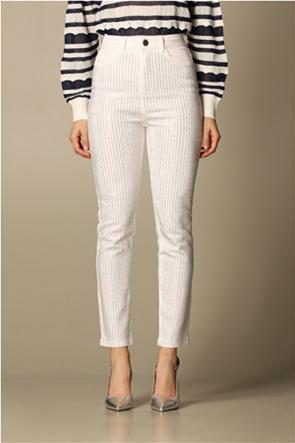 Twinset γυναικείο παντελόνι με στρας Slim Fit