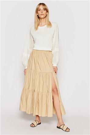 Twinset γυναικεία maxi φούστα με βολάν και μεγάλο σκίσιμο