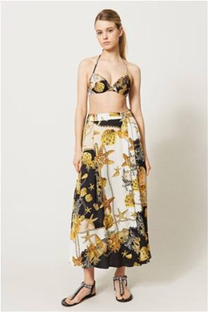 Twinset γυναικεία maxi φούστα ψηλόμεση με all-over print