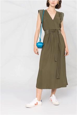 Twinset γυναικείο midi φόρεμα αμάνικο με ζωνάκι