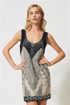 Twinset γυναικείο mini φόρεμα με κέντημα