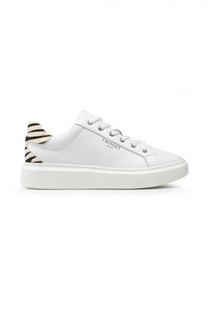 Twinset γυναικεία sneakers με zebra print λεπτομέρειες