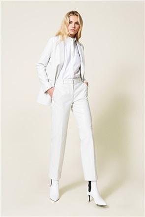 Twinset γυναικείo παντελόνι ψηλόμεσο faux leather
