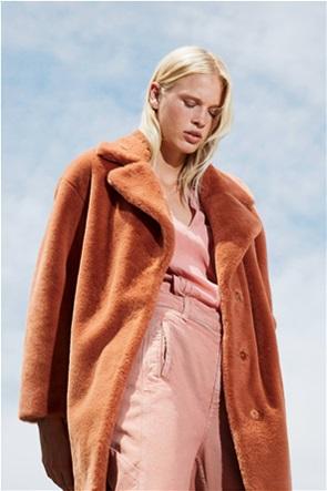 Twinset γυναικείo παλτό μονόχρωμο Loose Fit