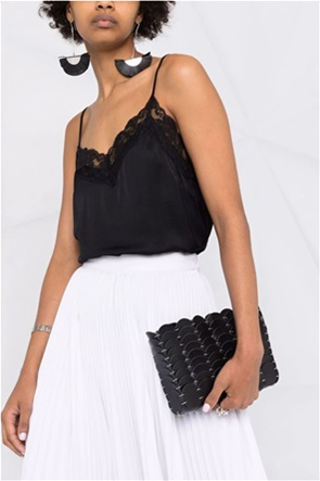 Twinset γυναικεία μπλούζα με δαντέλα και λεπτές τιράντες