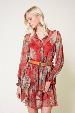 Twinset γυναικείo mini φόρεμα με all-over floral print
