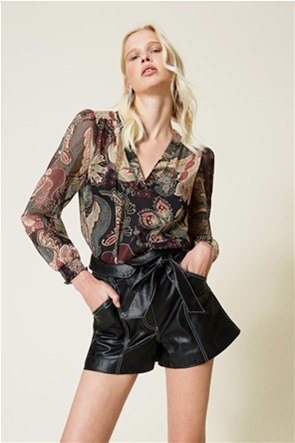 Twinset γυναικεία μπλούζα με all-over floral print