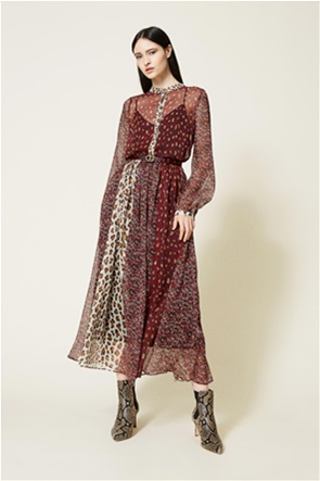 Twinset γυναικείο midi φόρεμα με all-over print