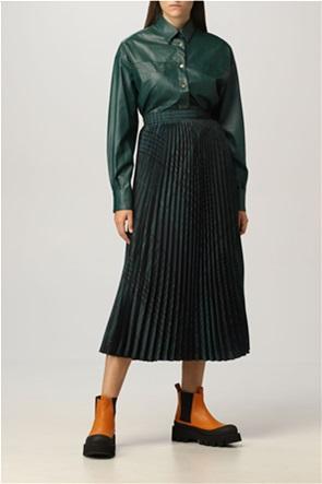 Twinset γυναικεία midi φούστα πλισέ pied-de-poule