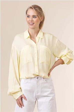 NA-KD γυναικείο πουκάμισο μονόχρωμο button-up Oversized Fit