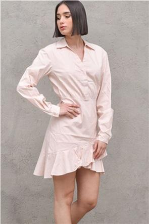 NA-KD γυναικείο mini φόρεμα σεμιζιέ με βολάν στο τελείωμα