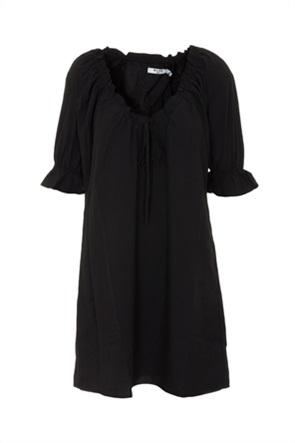 NA-KD γυναικείο mini φόρεμα μονόχρωμο με διακοσμητικό βολάν