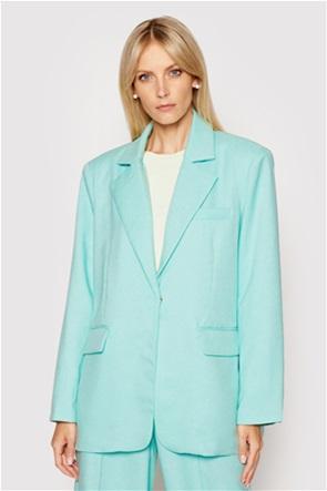 NA-KD γυναικείο blazer μονόχρωμο με flap τσέπες Oversized Fit