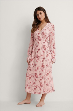NA-KD γυναικείο midi φόρεμα κρουαζέ με all-over floral print