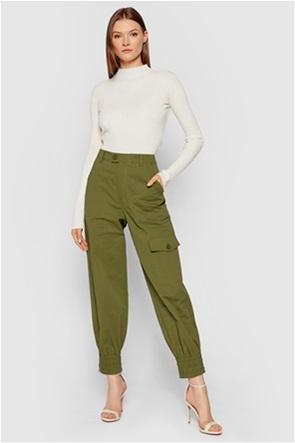 NA-KD γυναικείο παντελόνι μονόχρωμο με λάστιχο στο τελείωμα Relaxed Fit