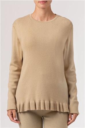 NA-KD γυναικεία πλεκτή μπλούζα μονόχρωμη με βολάν στο τελείωμα
