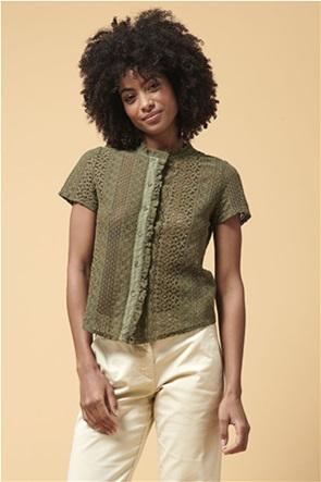 La Fee Maraboutee γυναικείο πουκάμισο δαντέλα