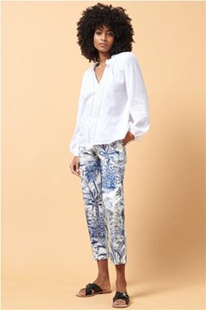 La Fee Maraboutee γυναικείο cigarette παντελόνι με tropical print