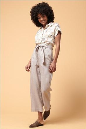 La Fee Maraboutee γυναικείο λινό παντελόνι cropped