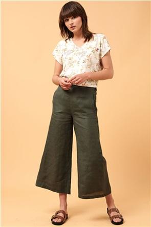 La Fee Maraboutee γυναικείο λινό παντελόνι wide