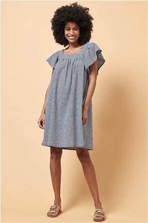 La Fee Maraboutee γυναικείο καρό mini φόρεμα με βολάν