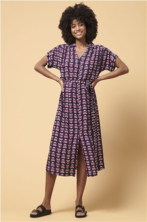 La Fee Maraboutee γυναικείο σεμιζιέ midi φόρεμα με γεωμετρικό σχέδιο