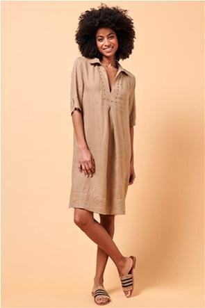 La Fee Maraboutee γυναικείο denim φόρεμα με τρούκς