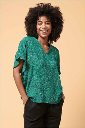La Fee Maraboutee γυναικεία μπλούζα με all-over leopard print και V λαιμόκοψη
