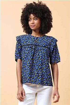 La Fee Maraboutee γυναικεία μπλούζα με all-over print και βολάν