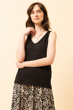 La Fee Maraboutee γυναικεία μπλούζα αμάνικη με V λαιμόκοψη