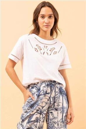La Fee Maraboutee γυναικεία μπλούζα με διάτρητα κεντήματα
