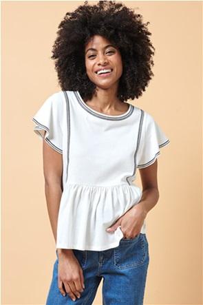 La Fee Maraboutee γυναικεία μπλούζα με print και διακοσμητικές σούρες