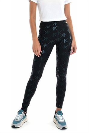 Kendall + Kylie White γυναικείο κολάν με all-over logo print