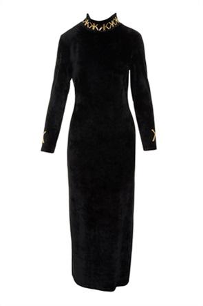 Kendall + Kylie White γυναικείο maxi φόρεμα με μεταλλιζέ λεπτομέρειες