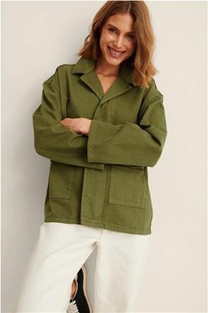 NA-KD γυναικείο jacket denim με flap τσέπες