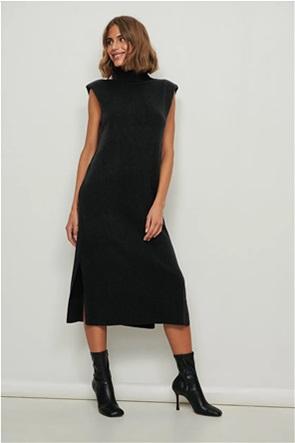 NA-KD γυναικείο midi φόρεμα με βάτες στους ώμους