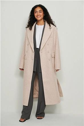 ΝA-KD γυναικείο παλτό μονόχρωμο Oversized Fit